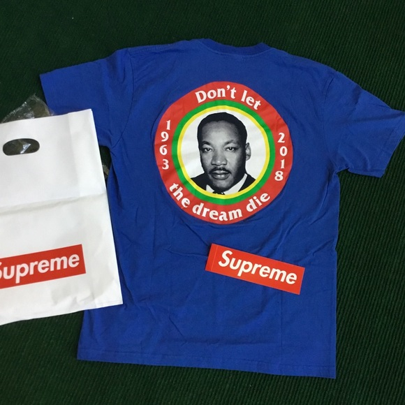 a9fc86dada0a Supreme x MLK dream tee royal blue t shirt. M_5b8066f2f4145261688aab48